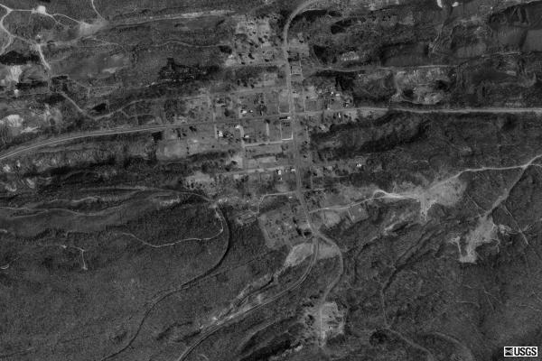 Aerial picture of Centralia from 1993