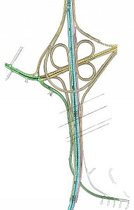 Planning map showing the future PA 309/PA Turnpike interchange