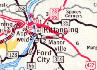 Kittanning Bypass in 1971
