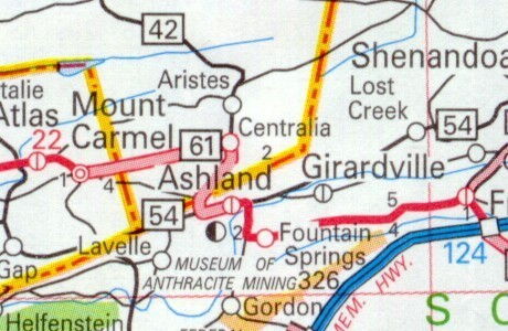 Location of Centralia
