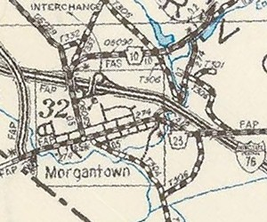 Morgantown in 1976