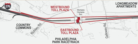 Modified Toll Plaza West