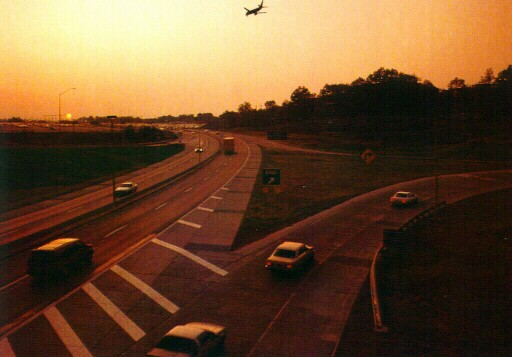 Newly opened Thorn Run Interchange in 1991