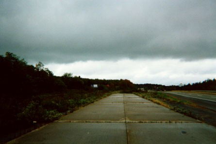 Abandoned southern end near the old airport