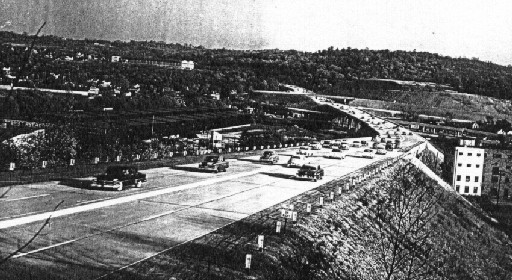 Penn-Lincoln Parkway in Carnegie in 1953