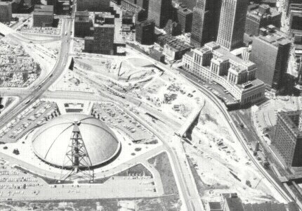 Crosstown Boulevard under construction in 1964