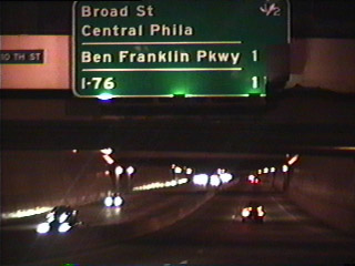 I-676 westbound at 10th Street