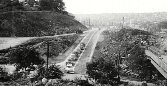 Schuylkill Expressway terminus in 1954