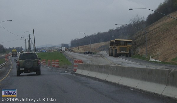 View of Exit 52 during construction