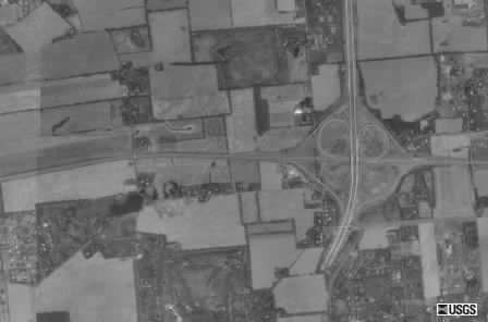 Aerial picture of the interchange