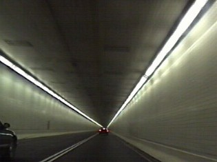Within the tunnel