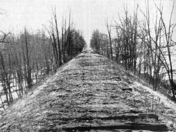 Small part of the roadbed in 1885