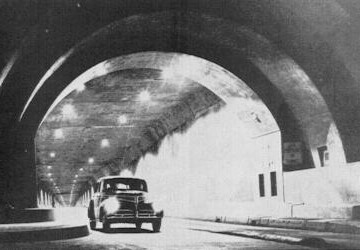 Early tunnel illumination with recessed lighting