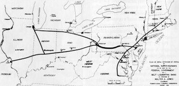 Walter Jones' original 1,800-mile-long system plan