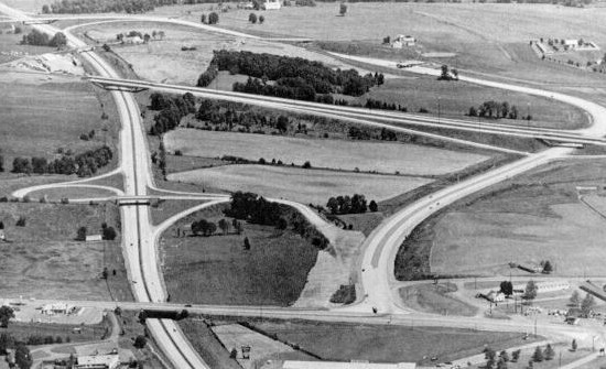 US 222's new interchange