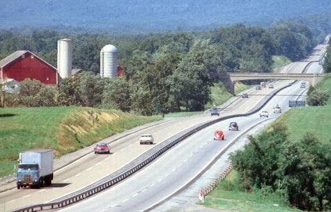 The 12-mile straightaway east of the Blue Mountain Tunnel