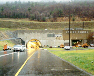 Lehigh Tunnel under construction