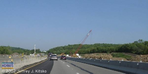 Construction commencing on the Warrendale Toll Plaza in June 2002