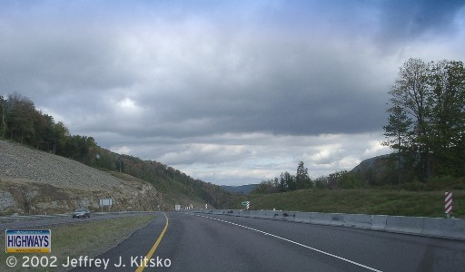 The end of the expressway north of Blossburg until 2004