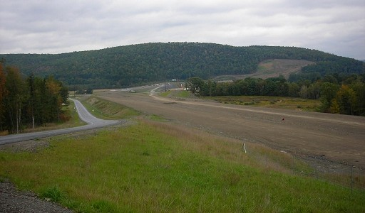 Facing northbound towards the PA 49 interchange and Cowanesque River