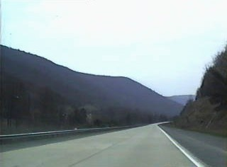 Southbound on an older section of the highway