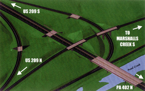 Planned interchange with PA 402