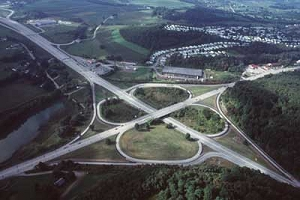 Original cloverleaf interchange