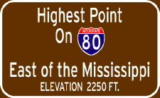 Highest Point on I-80 East of the Mississippi River