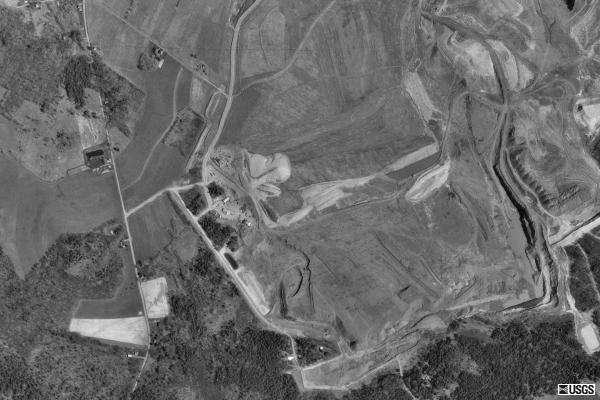 Aerial picture of the crash site