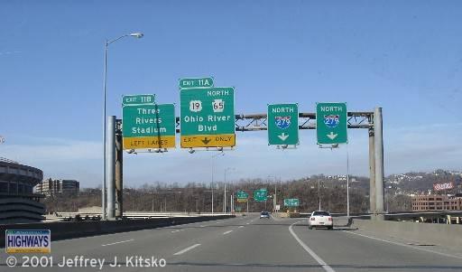 Scene from Interstate 279 northbound