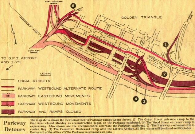 I-376 detour map