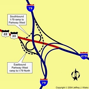 New ramps at I-79 and I-279