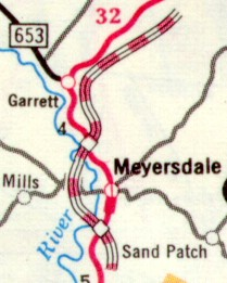 Meyersdale Bypass in 1976