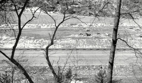 I-279 under construction in the East Street Valley
