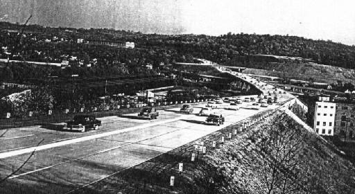 Penn-Lincoln Parkway in Carnegie in 1953