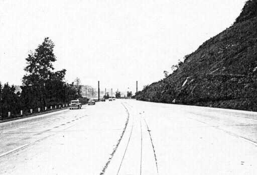 Westbound heading towards Bates Street in August 1953