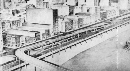 Proposed connection with the Wabash Bridge