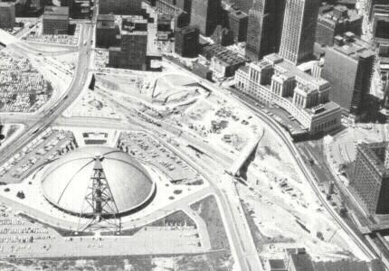 Crosstown Boulevard under construction in 1964