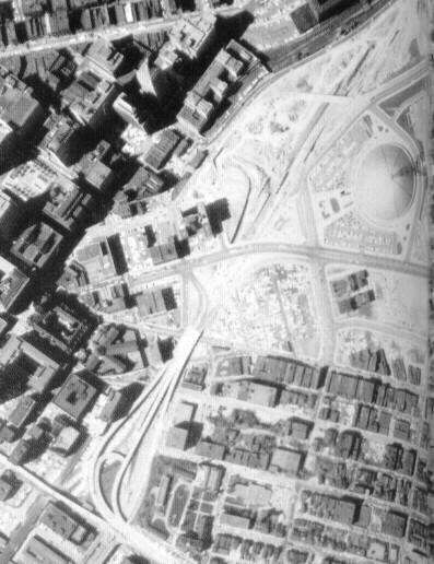 Progress on the Crosstown Boulevard in 1963