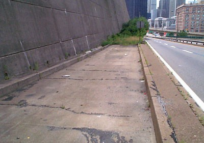 The abandoned ramp to PA 380