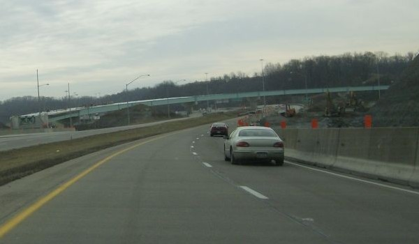 The future ramp from US 22/US 30 eastbound to I-79 northbound