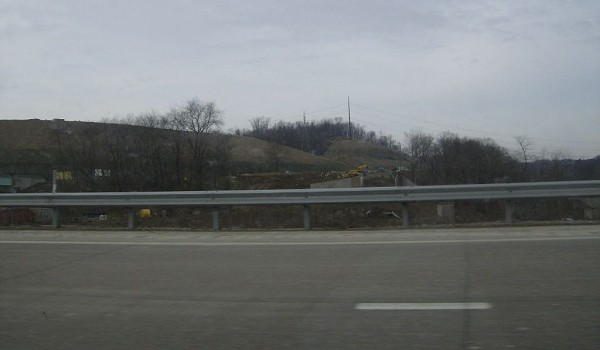 Clearing for the ramp from I-79 southbound to US 22/US 30 westbound