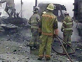 Firemen responding to the scene