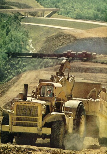 Construction going on south of Hazleton in 1968