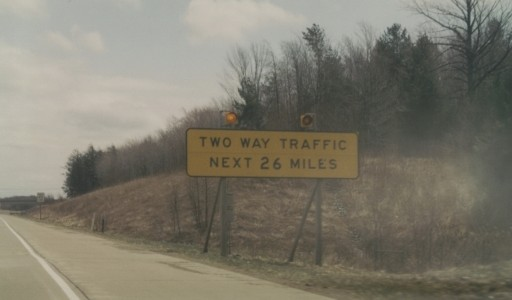Sign at the beginning of PA 17 in the mid-1990s