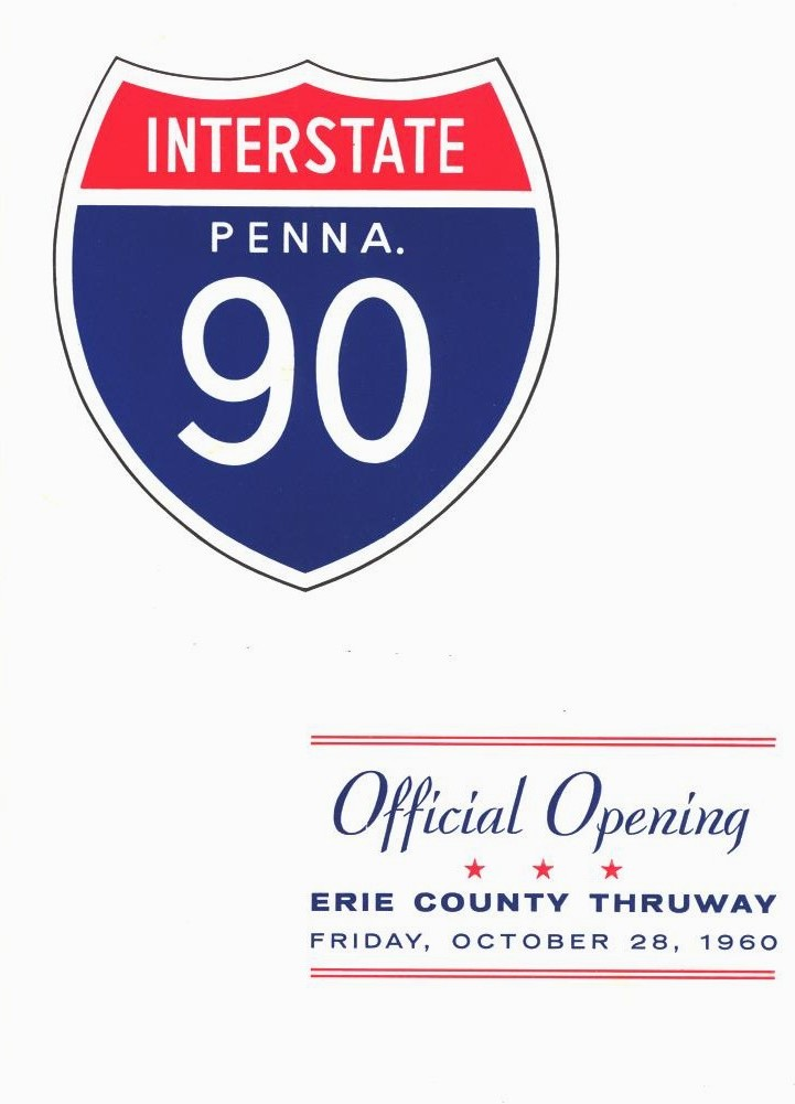 Cover of the I-90 opening ceremony program