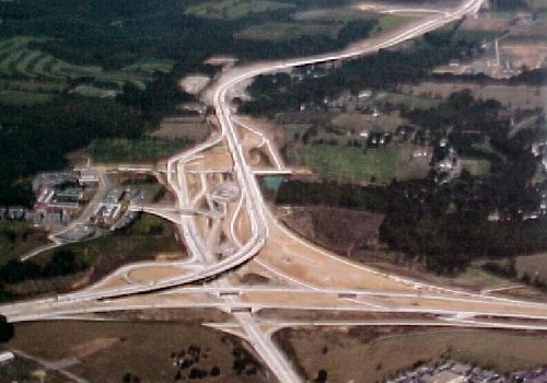 Looking northward at the interchange with US 322 in State College