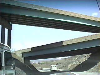 Closer view of the old stack interchange at I-81/I-84/I-380