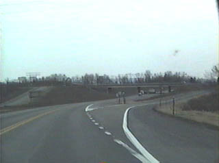 Southbound at the PA 254 exit