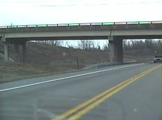 Close-up of the PA 642 overpass